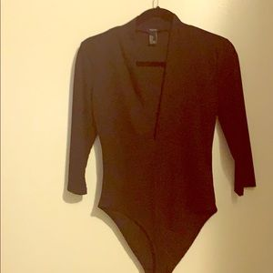 Black 3/4 length onesie